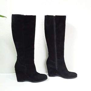 Nine West Vertie suede wedge tall boots